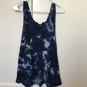 American Eagle Outfitters Blue Tie-dye Tank